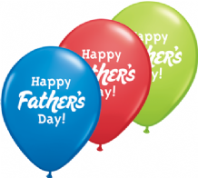 Happy Fathers Day - 11 Inch Balloons 50pcs